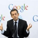 Nicolas Sarkozy dans les nouveaux bureaux de Google à Paris