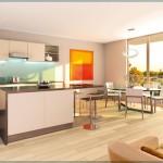 Cuisine design dans un appartement situé à Paris 4