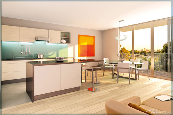 Cuisine design dans un appartement situ paris 4 - Appartement de standing burgos design ...