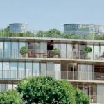 Nouvelle Vague : résidence neuve avec une façade en verre