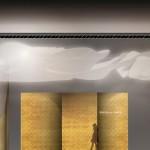 Nouvelle vague : Hall d'entrée avec un sculpture moderne