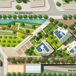 Plan de masse de la résidence O3, Vinci immobilier