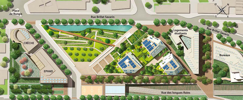 Plan de masse de la r sidence o3 vinci immobilier for Plan masse architecture