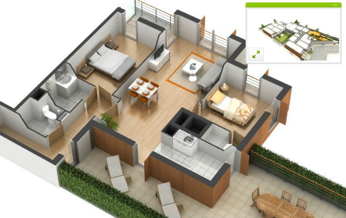 Visite d 39 appartement en 3d for Appartement en 3d