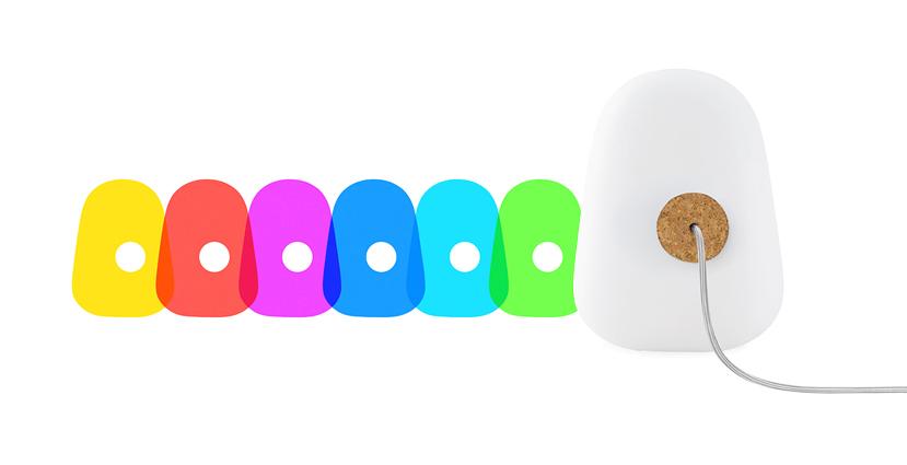 Lampe à variation de couleurs Forme de vie