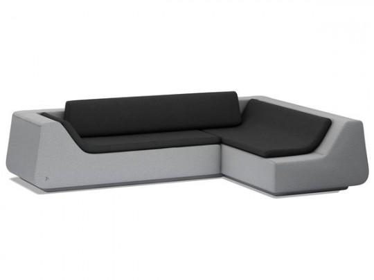 Canapé design d'angle Novv couleur ciment