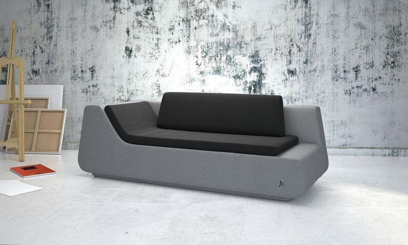 canap design novv gris. Black Bedroom Furniture Sets. Home Design Ideas