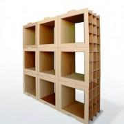 Bibliothèque en carton modulaire 800 Gr