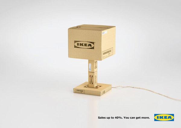 Lampe en carton Ikea