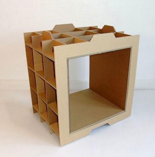 Module étagère en carton à monter
