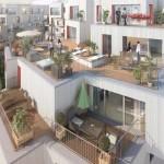 Pereire 17, résidence BBC, appartements avec terrasse