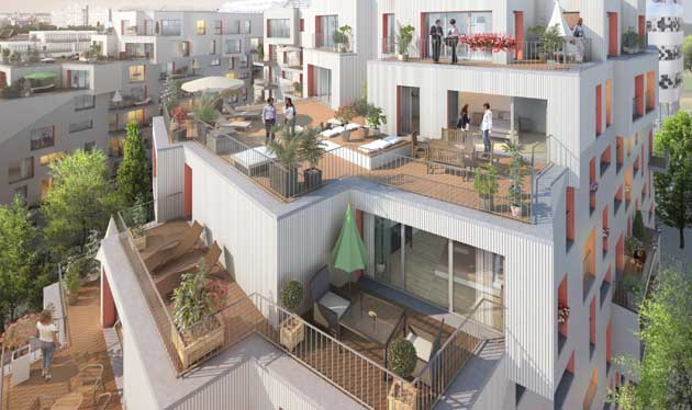 Pereire 17 r sidence bbc appartements avec terrasse for Idee deco terrasse appartement