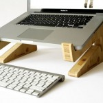 Support laptop en bambou design