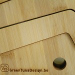 Support pour ordinateur en bambou Green Luna design