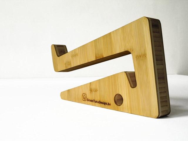 support ordinateur design en bambou. Black Bedroom Furniture Sets. Home Design Ideas