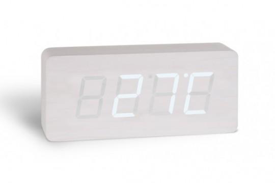 horloge thermom re digital design blanc opio. Black Bedroom Furniture Sets. Home Design Ideas