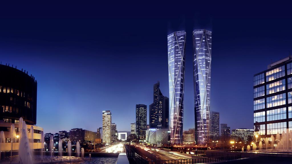 Tours Hermitage Plaza, les tours jumelles les plus hautes d'Europe à La Défense