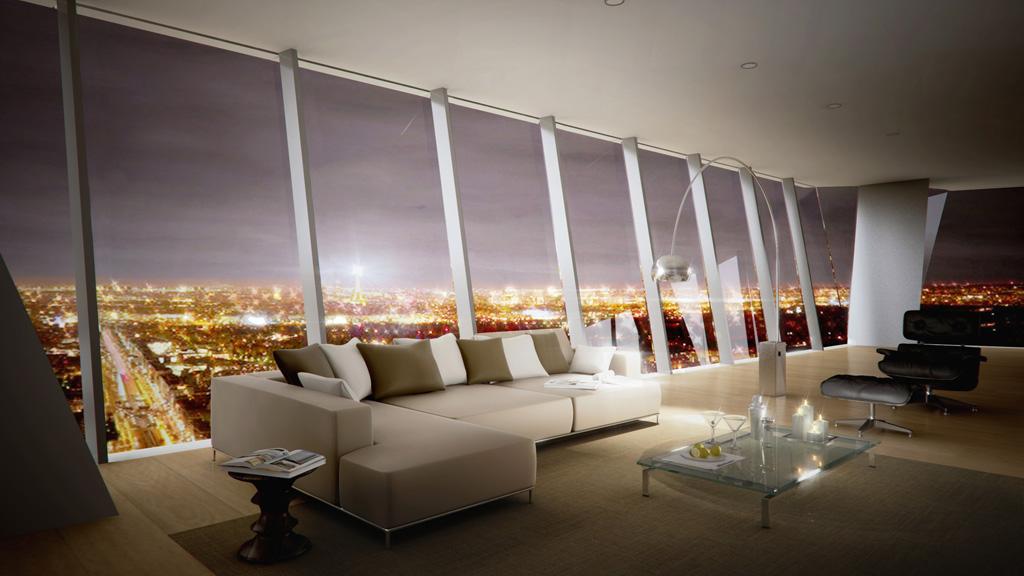 Appartement dans la tour hermitage plaza avec vue - Appartement luxe paris avec design sophistique et elegant ...