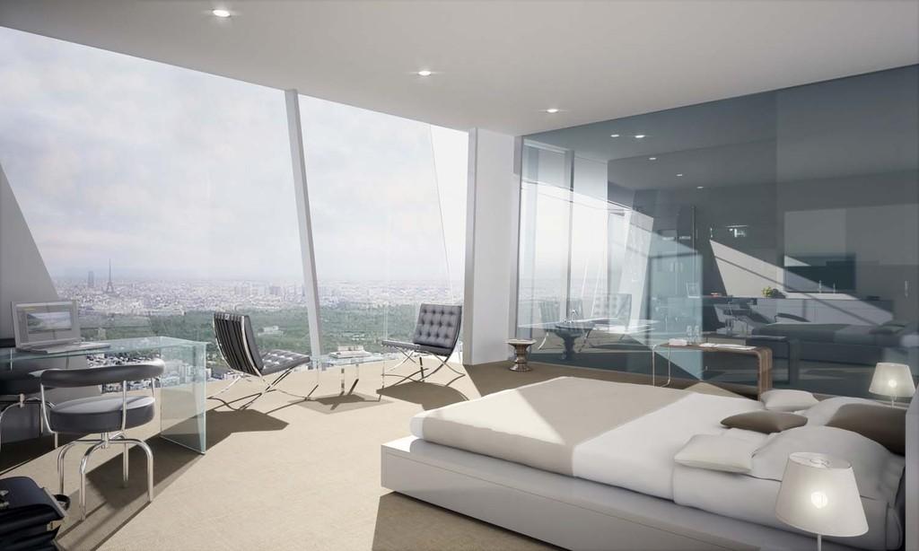 Tour hermitage chambre avec vue panoramique sur paris for Chambre arbitrale de paris
