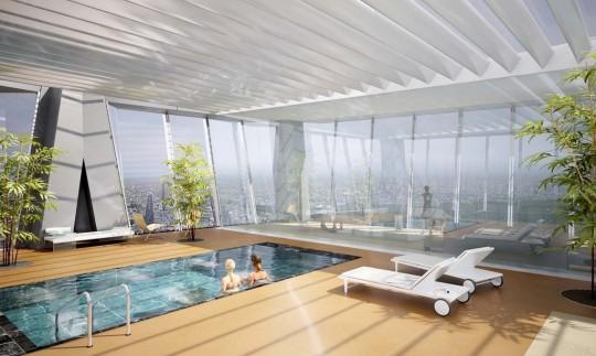 Tour Hermitage Plaza avec une piscine panoramique