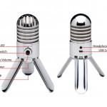 Caractéristiques techniques / commandes du microphone Sansom Meteor