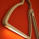 Nepa, lampe en bois ultra plate