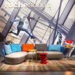 Code soft, OVALIS canapé d'angle composable Roche Bobois