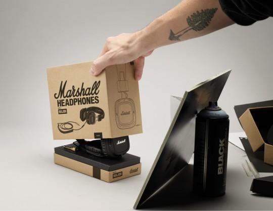 Ouverture de la boite du casque Marshall Major Black edition