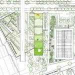 Plan de masse de la crèche C1 à Boulogne-Billancourt