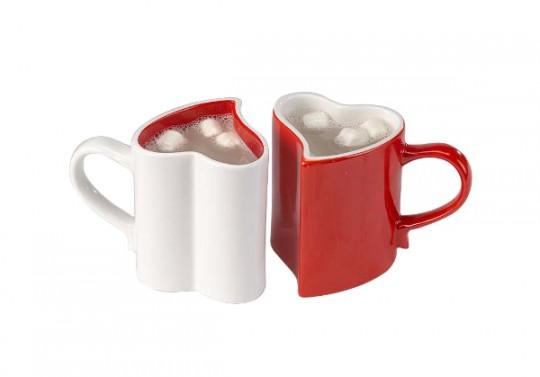 Duo de tasses en forme de coeur