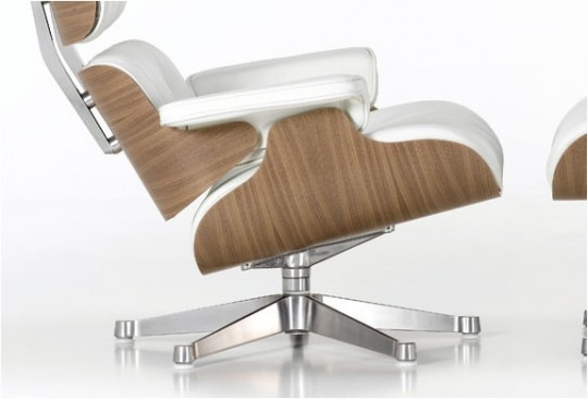 Fauteuil lounge Charles Ray Eames Blanc
