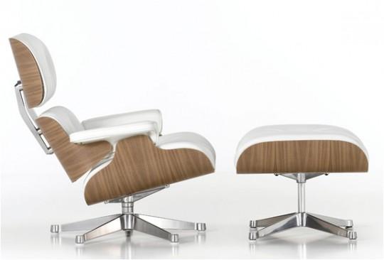Fauteuil lounge Eames blanc