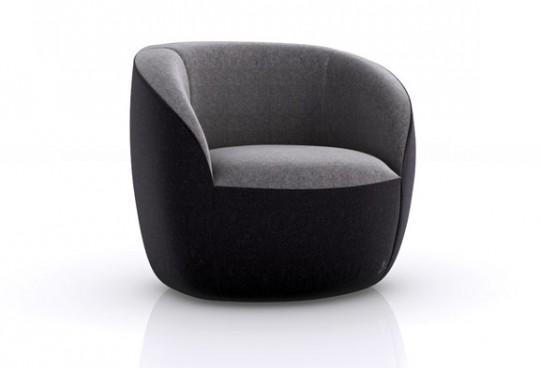 Fauteuil Podd noir et gris de la marque Green Sofa