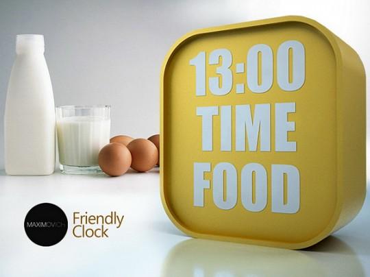 Friendly clock, horloge atypique qui affiche l'heure + des messages texte