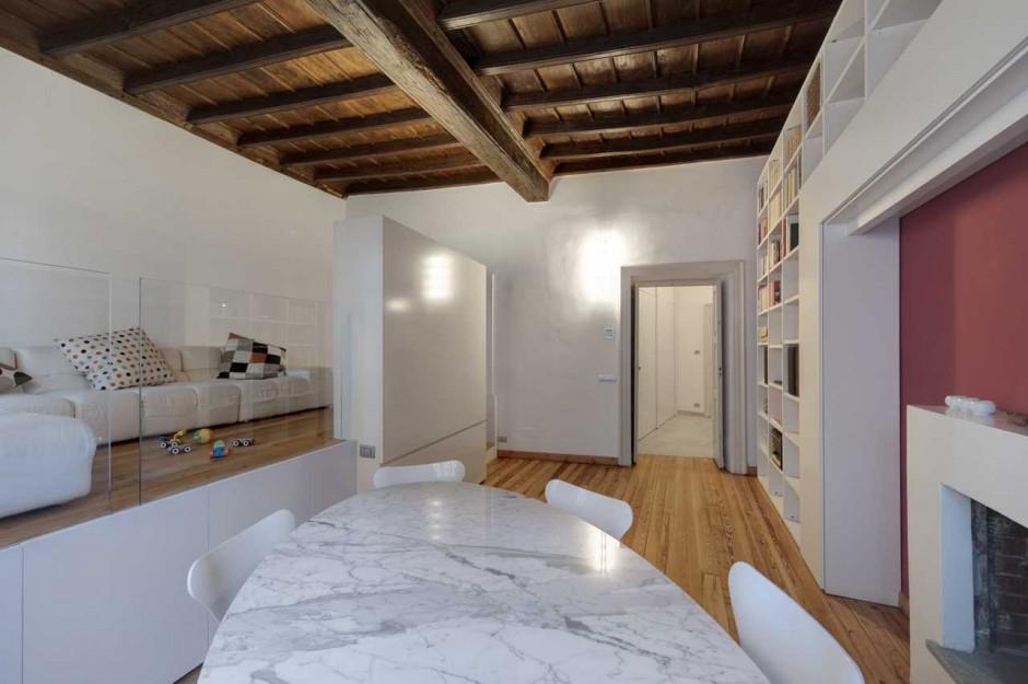 photo d 39 un petit appartement r nov dans un style design. Black Bedroom Furniture Sets. Home Design Ideas