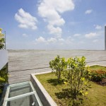 Jardin sur le toit d'une maison écologique Stacking Green