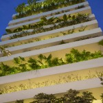 Maison écologique verticale Stacking Green