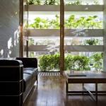 Parquet massif exotique dans une maison écologique Stacking Green