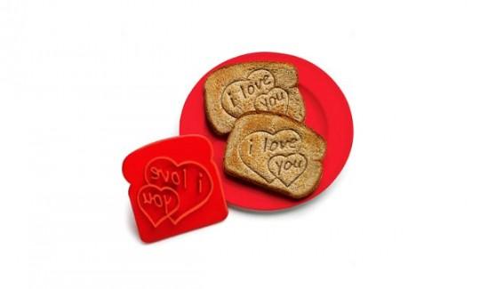 Tampon pour toast en forme de coeur