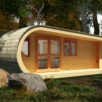 Maison en bois dans un arbre ecoPERCH
