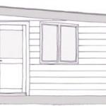 Plan de coupe de la maison en bois ecoPERCH