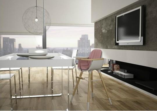 Chaise haute design Micuna OBO blanche