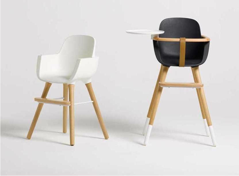 chaise haute pour b b micuna ovo noire. Black Bedroom Furniture Sets. Home Design Ideas