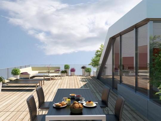 Appartement avec terrasse sur le toit - Résidence Home (Bibliothèque François Miterrand)