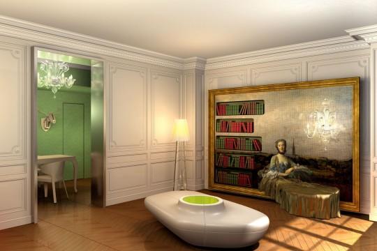 Chambre d'hôtes mêlant charme et luxe : Résidence Nell Paris 9