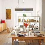 Déco enbois dans un petit appartement à Barcelone