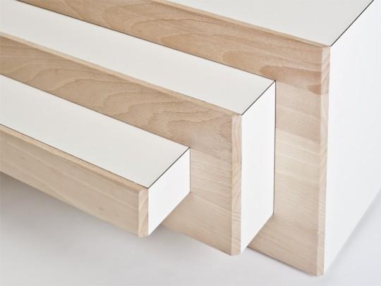 Table basse en bois extensible REK