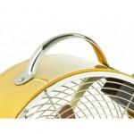 Ventilateur en métal rond avec une poignée de transport