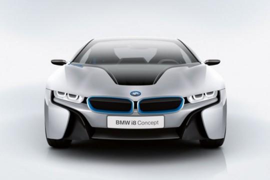 BMW i8 avant de la voiture électrique
