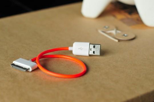 Câble USB pour iPhone design - La pieuvre à lunettes